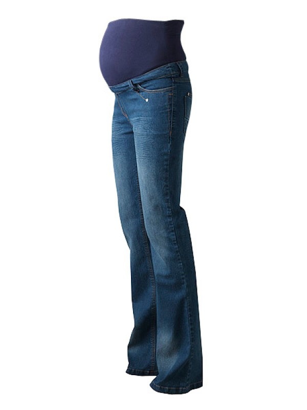 Regular Blue Over Bump Plus Size Maternity Jeans