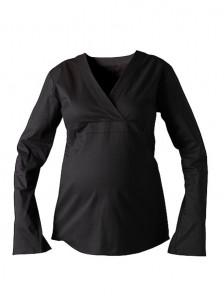 Premium Stretch Cotton Plus Size Maternity Blouse